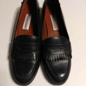 Leather Buckingham Loafer Flat Size 7 N
